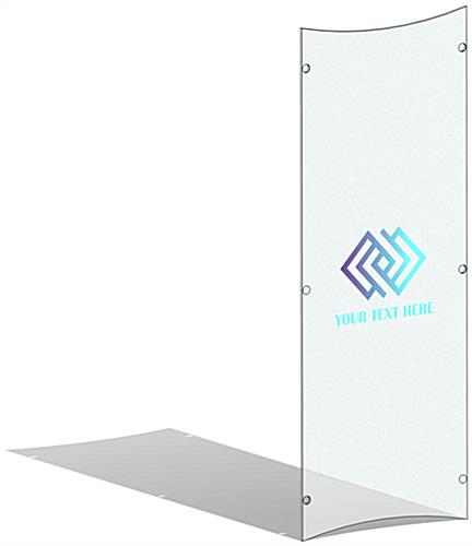 Personalized UV printed frosted replacement panel for CVWD series lecterns