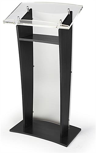 Front Frosted Panel Acrylic Public Speaking Stand