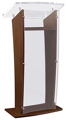 Workshop Series Wood Podium with Acrylic Front Panel, 48 75