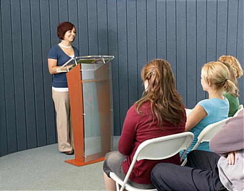 Maple Wood Public Speaking Stand for Presentations