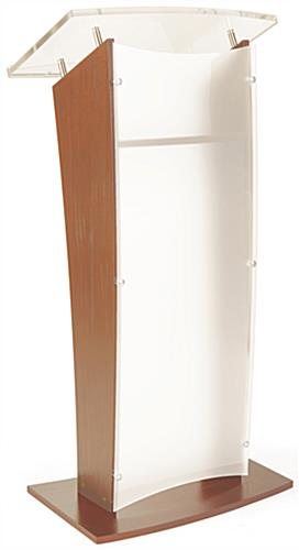 Wood Rostrum Podium with Interior Shelf