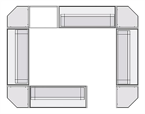 White Store Counter Configuration