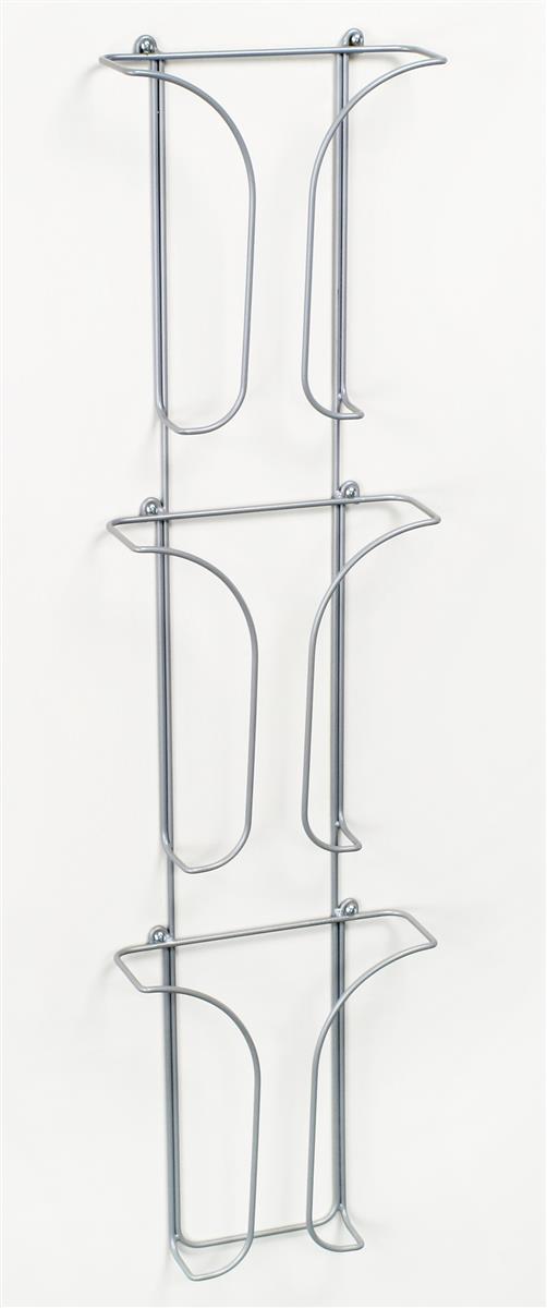 3 Tiered Metal Wire Wall Magazine Rack 8 5 W Pockets Gray
