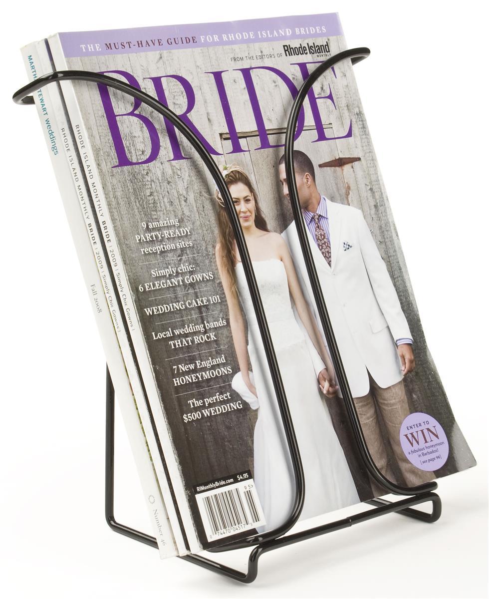 Black Wire Literature Holders For Magazines Catalogs
