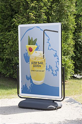 Pavement Sign with Trolley - Swinging Design