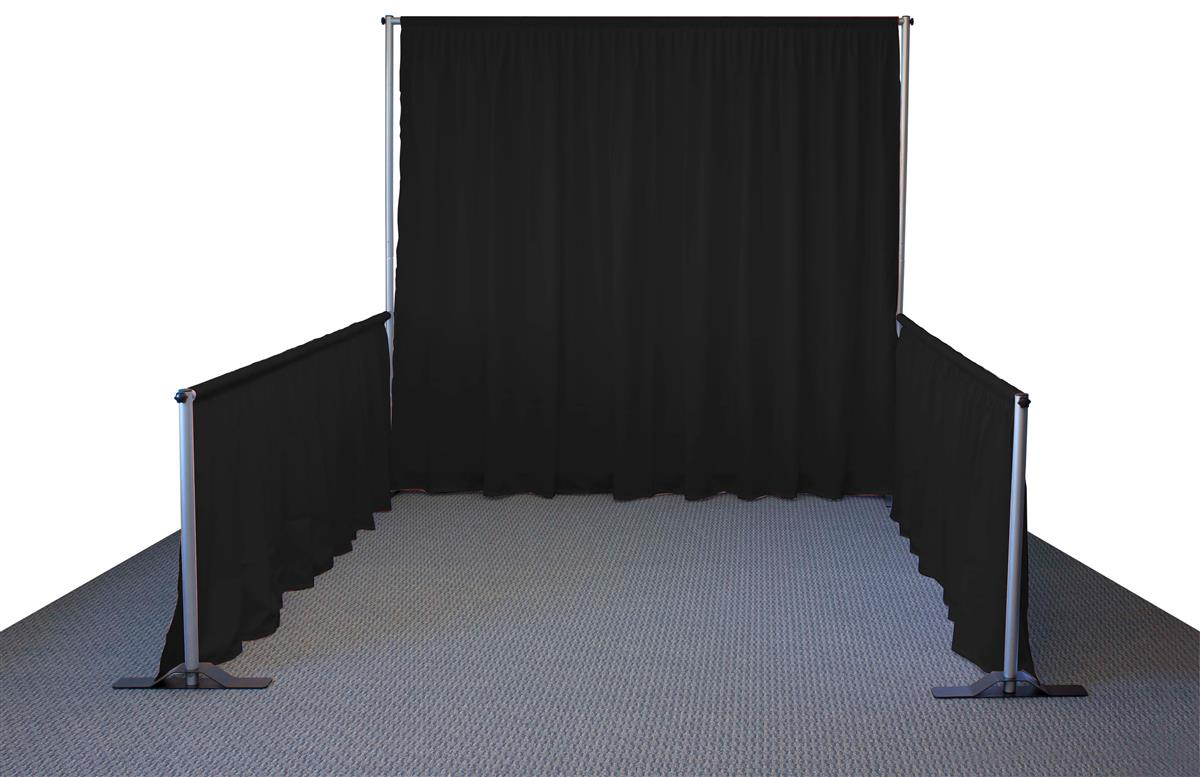 Trade Show Booth Backdrop : Pipe and drape system makes your booth stands out from the