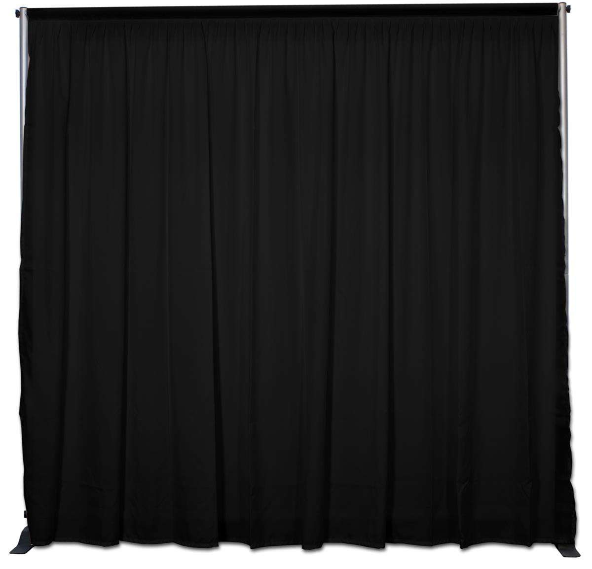 Displays2go Booth Backdrops Include Black Fabric Curtain