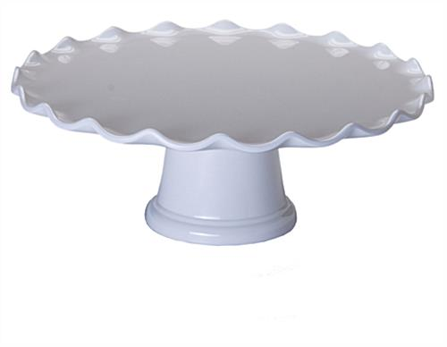 "Well-known 15"" White Cake Stand with Dome 