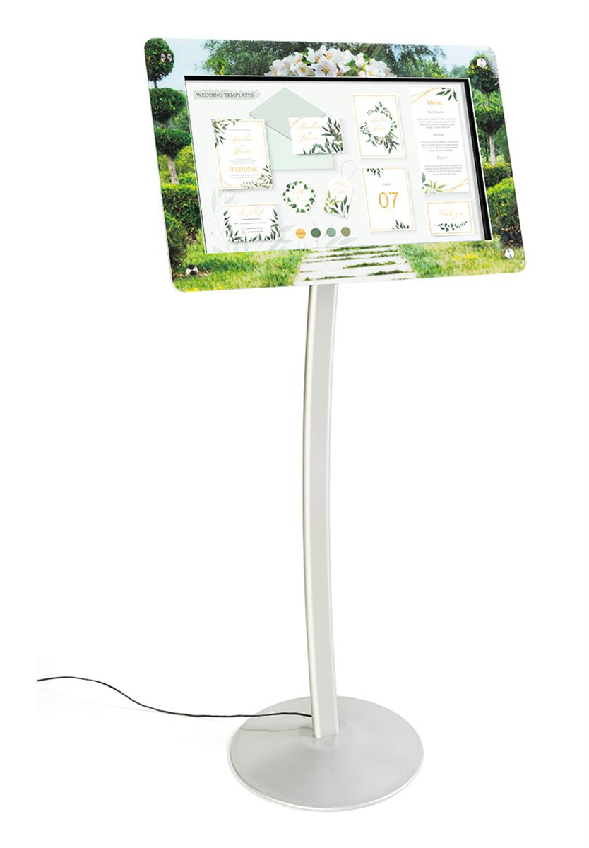 "21.5"" floor standing digital sign stand"