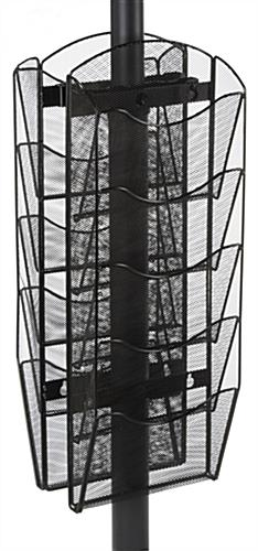 Double-Sided Mesh Literature Rack - 8 Pockets
