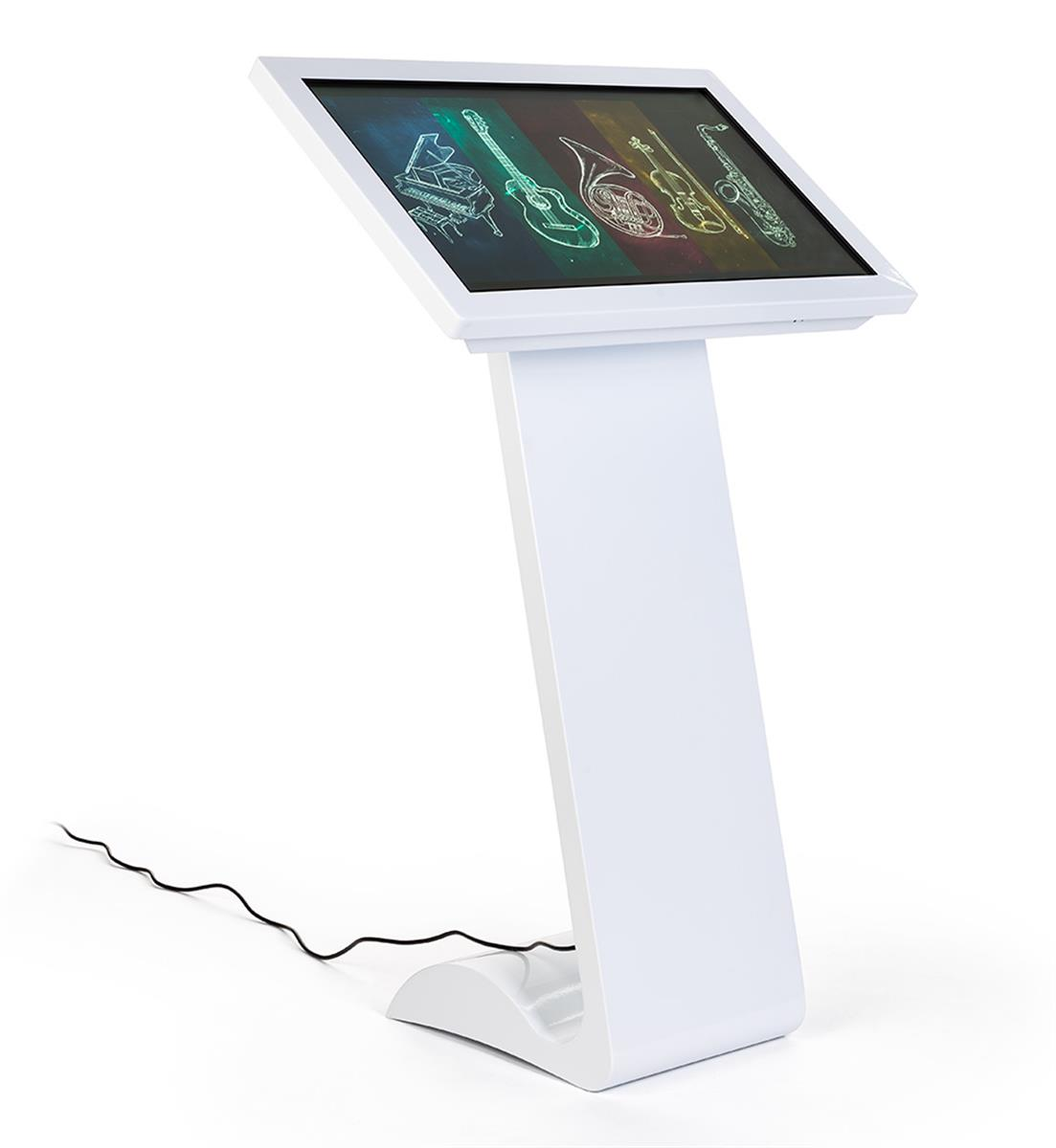 "32"" slanted touch screen floor standing digital kiosk"