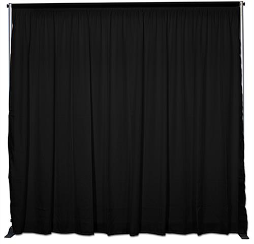 8-foot Fabric Pipe-n-Drape Wall