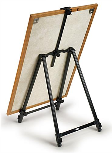 Black Aluminum Easel Height Adjustable W Top Clamp
