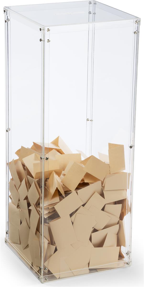 Acrylic Donation Box Floorstanding