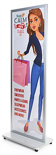 "24"" x 72"" fixed-width 2-sided portable poster stand"