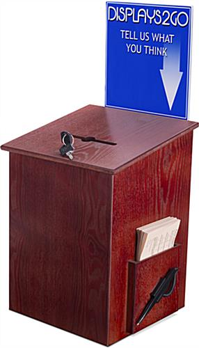 Locking Wood  Suggestion Box