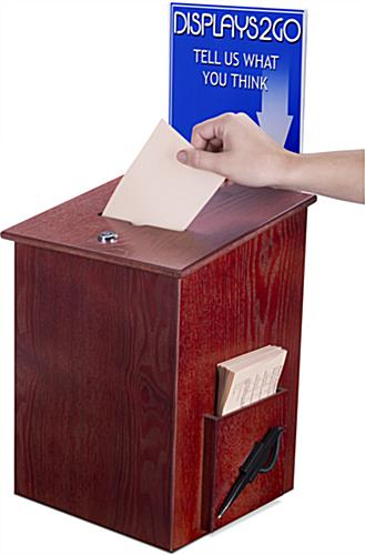 Wood Suggestion Box for Offices