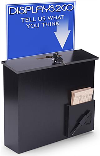Locking Black Donation Box
