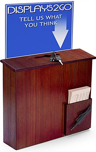 Locking Comment Box with Sign Holder