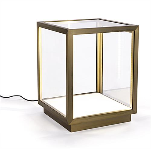 Metal framed tabletop display vitrine