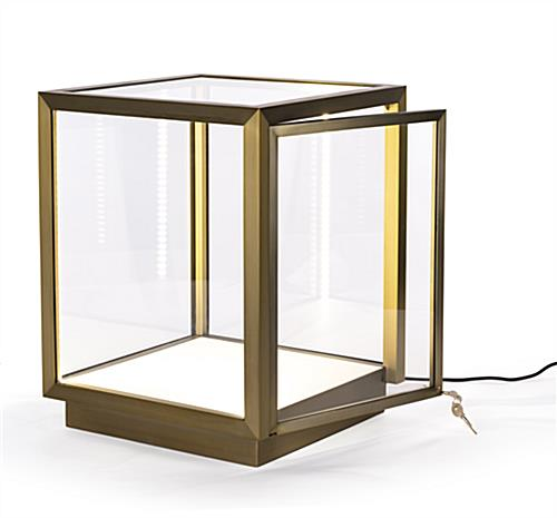 Museum-style tabletop display vitrine