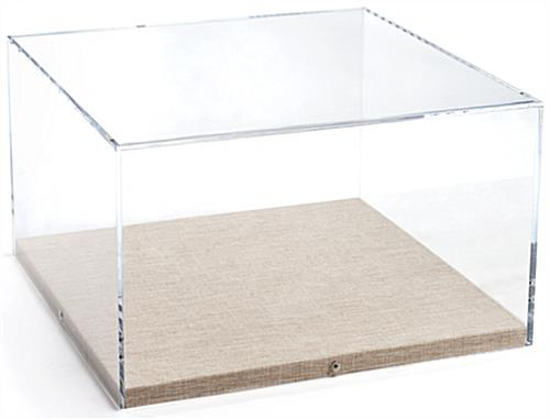 Presentation-Quality Tabletop Display with Neutral Linen Base