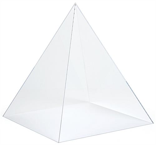 Pyramid acrylic display case with 0.2 inch thickness
