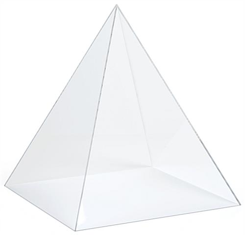 Acrylic pyramid box with lift off loading style