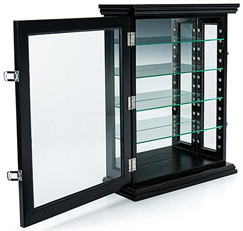 Lockable curio wall cabinet