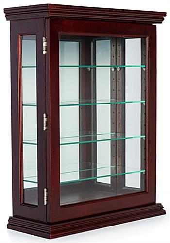 Lockable mahogany wall curio