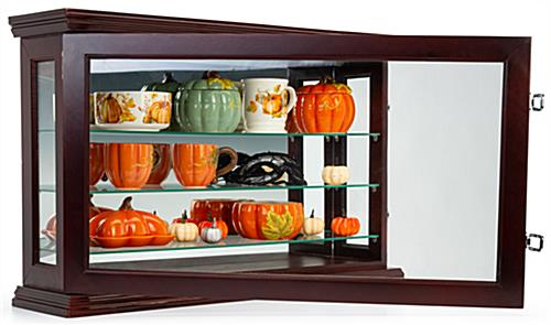 Lockable curio china display cabinet