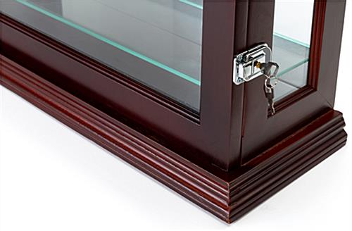 Curio china display cabinet with dual security locks