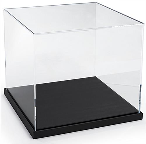 Gallery-Style Box Display Case with Black Base