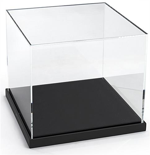 Tabletop Acrylic Museum Display Frame with Black Base