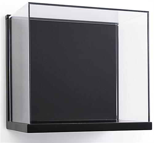 Wall Mount Acrylic Shadow Box Display with Black Backing and Base