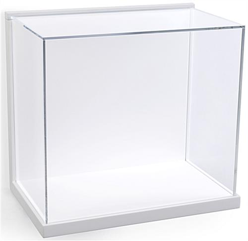 Museum Style Wall Vitrine with White Backer and Base