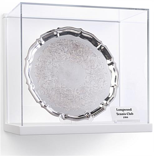 Antique Silver Platter Inside Museum Style Wall Vitrine