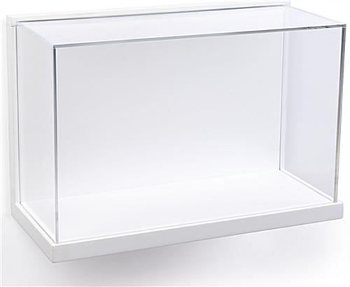Museum Style Wall Mount Display Box with Clear Acrylic Enclosure