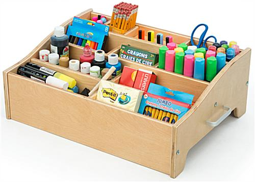 Kids Art Supply Storage with Multiple Compartments