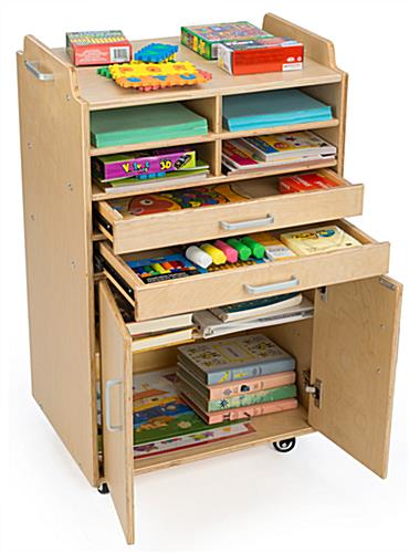 Craft Supply Organizer with Multiple Compartments