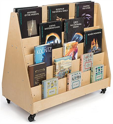 Kid's Book Stand with 10 Shelves
