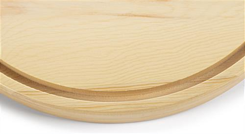 Glass dome wood bases with recessed groove