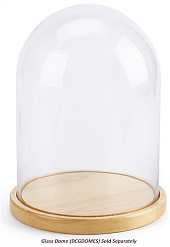 Glass dome wood bases with cloche sold separately