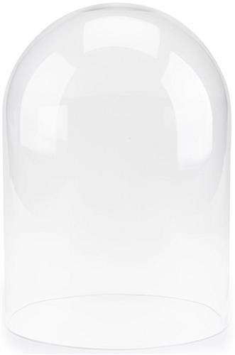 Small glass bell jar fits over items under 13 inches tall