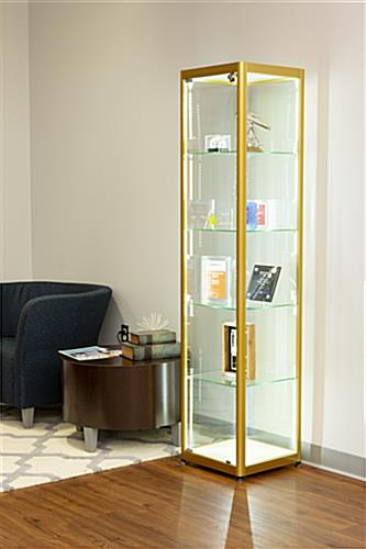 full glass narrow tower for professional accolades