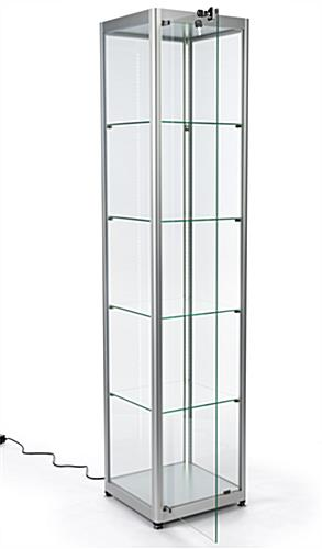 four-tier glass display tower