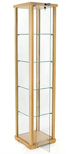 4-tier glass curio cabinet tower display