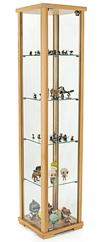 tempered glass curio cabinet tower display