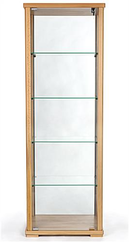 360° viewable glass curio cabinet display