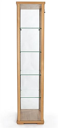 4-tier glass curio cabinet display